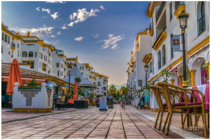 Street in Puerto Banos, Marbella